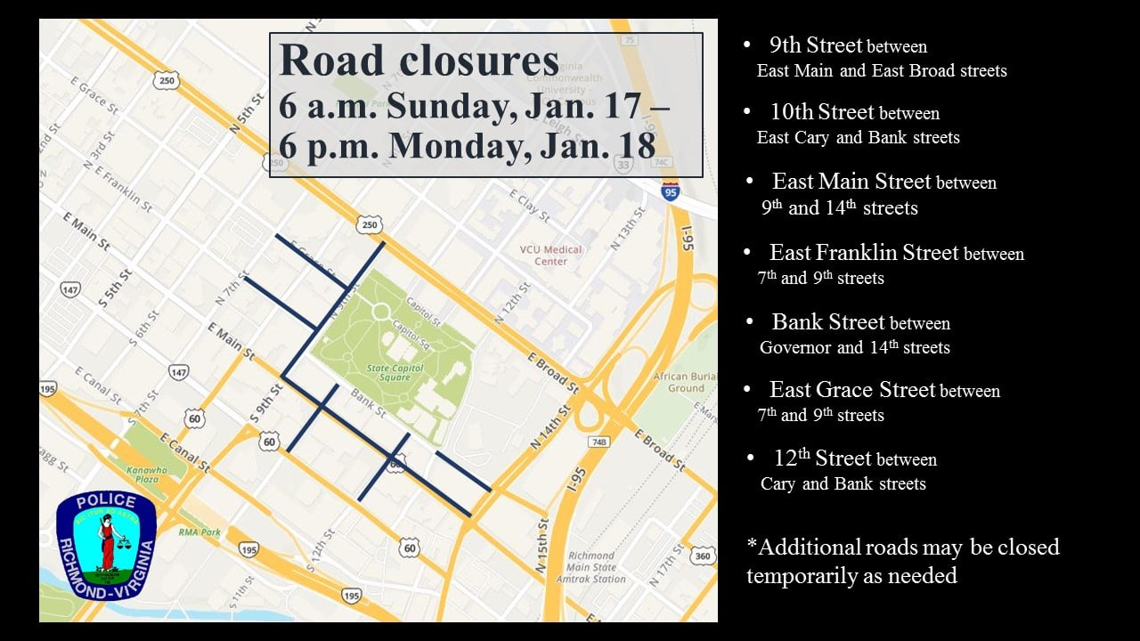 Road Closures Impact Dominion Energy Center